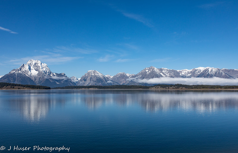 Mountain reflections in Grand Teton NP