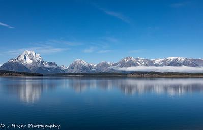 Mountain reflections in Grand Teton NP