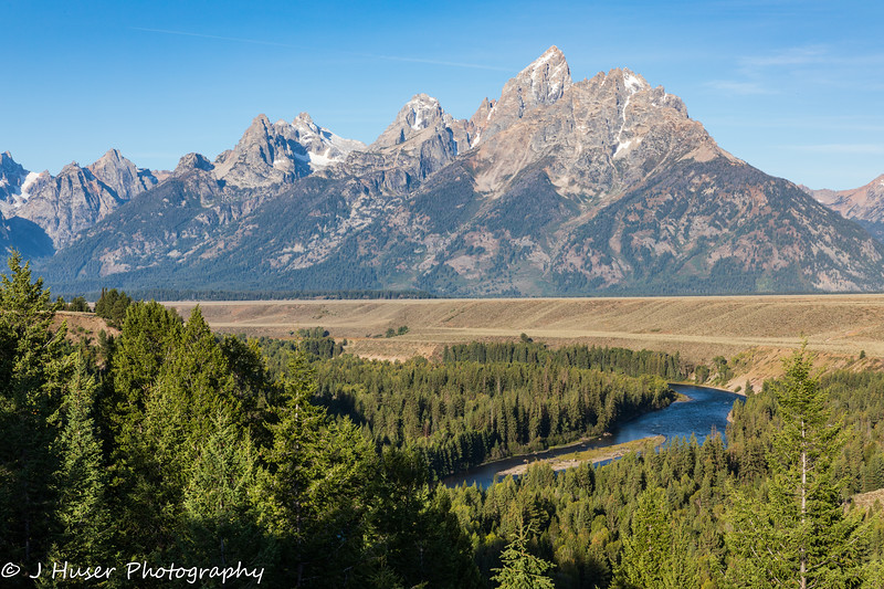 Snake river and Teton mountains