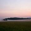 Ground fog at sunrise. USA 2015