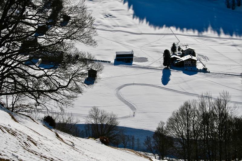 Cross-country skier.  Switzerland 2007.