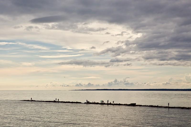 Fishermen at Hammonasset Beach. USA 2015.