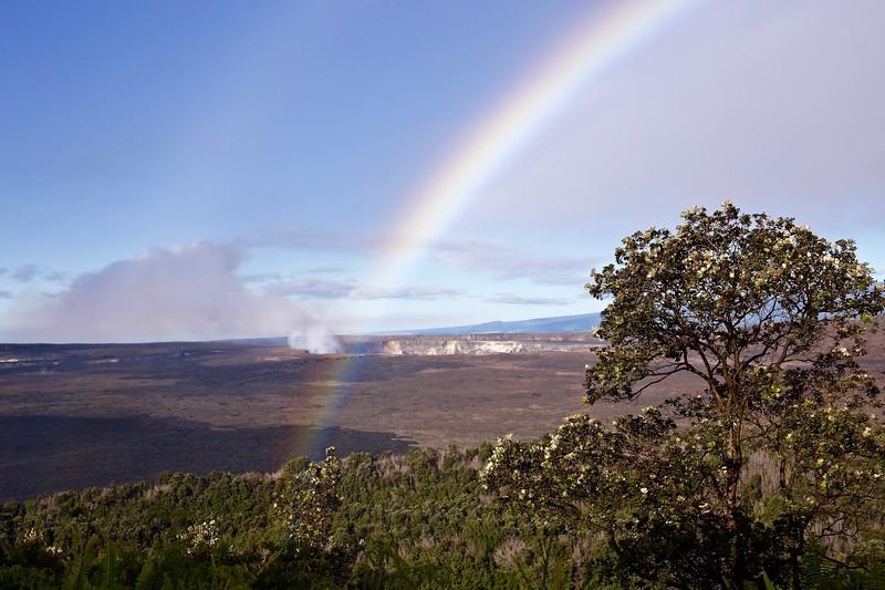 Rainbow over Halemau'mau Crater, Hawaii. 2016