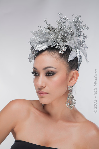 Model, MUA & Hair: Priscilla Chavez Designer: Fernanda Gratton Flowers: Veranda Flowers, Gifts, and Events and El Paso Floral Photographer: Bill Hardman