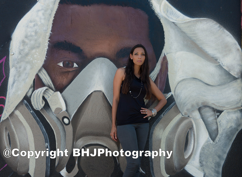 Portrait of the African American man with a respirator mask is a self portrait by Gens