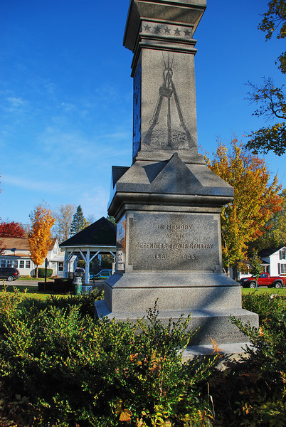 The Civil War Memorial in Springville.