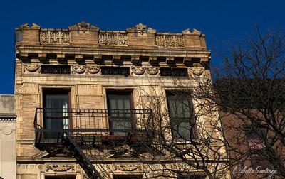 Beautiful facade seen in Flatbush Avenue, Brooklyn, New York