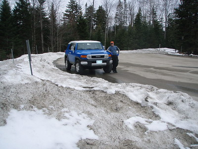 They do plow the parking lot, and there's plenty of parking even at this time of year. My new FJ!