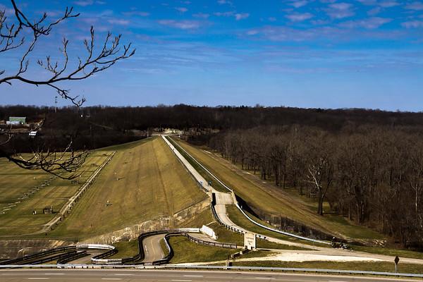 The Huffman Dam In Dayton Ohio 3-5-2017