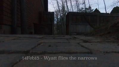 Wyatt flies the narrows after sundown