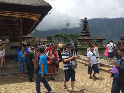 Temple Ulun Danu, situé grosso modo au milieu de l'île.
