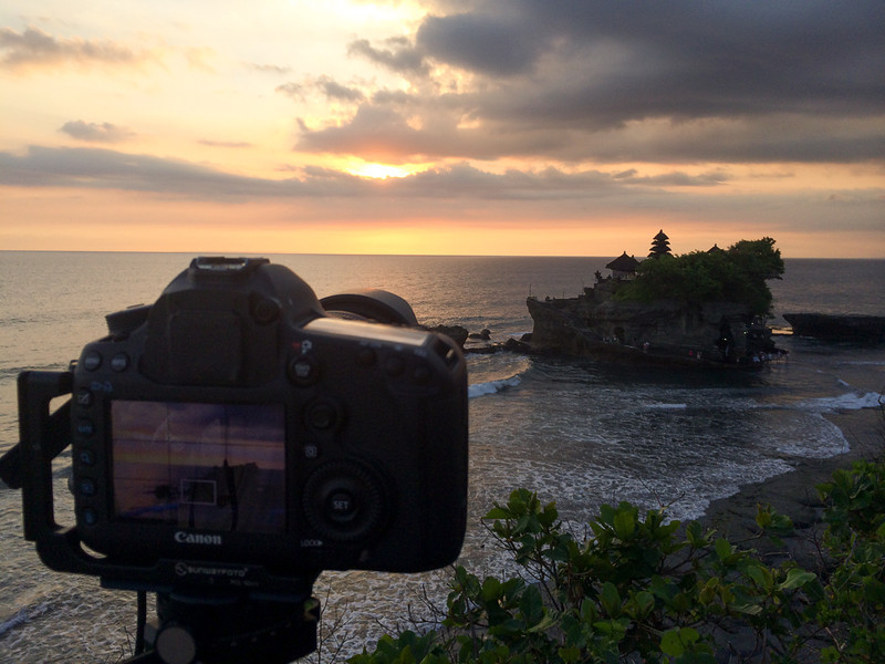 Dernier sunset à Tanah Lot