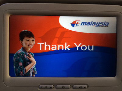 Thank you Malaysia airlines...