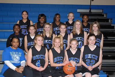 Beck Girl's Basketball 2009-2010