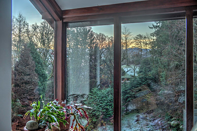 Fri 25th Nov : pre-sunrise view from the landing window