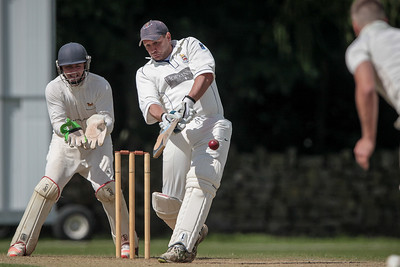Stuart Hudson batting for Beckwithshaw CC