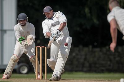 Stuart Hudson batting for Beckwithshaw CC