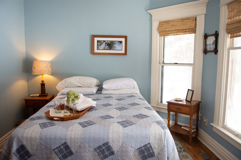 SPRUCE<br /> <br /> Rates: <br /> Single Occupancy: $85<br /> Double Occupancy: $90<br /> Additional Guest:  $15.00 on cot<br /> Check in: 5:15  pm or by special arrangement<br /> Check out: 11:00 am<br /> Second Story room<br /> Queen Sized Bed<br /> Luggage stands, spa robes<br /> Air conditioner or screen<br /> Heating<br /> Table and chairs<br /> Wicker Chair<br /> Shared bathroom<br /> Breakfast INCLUDED<br /> FREE WIFI<br /> NYS Sales Tax and Bed Tax not included