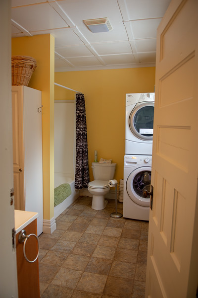Applewood Suite private bathroom, or shared if needed for larger groups.