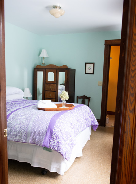 PLUMWOOD SUITE <br /> <br /> Rates: <br /> Single Occupancy: $100<br /> Double Occupancy:  $110<br /> Check in: 5:15 pm or by special arrangement<br /> Check out: 11:00 am<br /> First Floor room with an attached bath<br /> Queen Sized Bed<br /> Luggage stands<br /> Hair dryer<br /> Dresser<br /> Wardrobe<br /> Air conditioner or screen<br /> Heating<br /> Small Drop leaf table <br /> Two chairs<br /> Breakfast INCLUDED <br /> Free WIFI<br /> NYS Sales Tax and Bed Tax not included