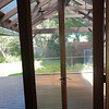 pergola and garden, view from meals room in front of kitchen