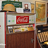 Vintage coke machine and jukebox