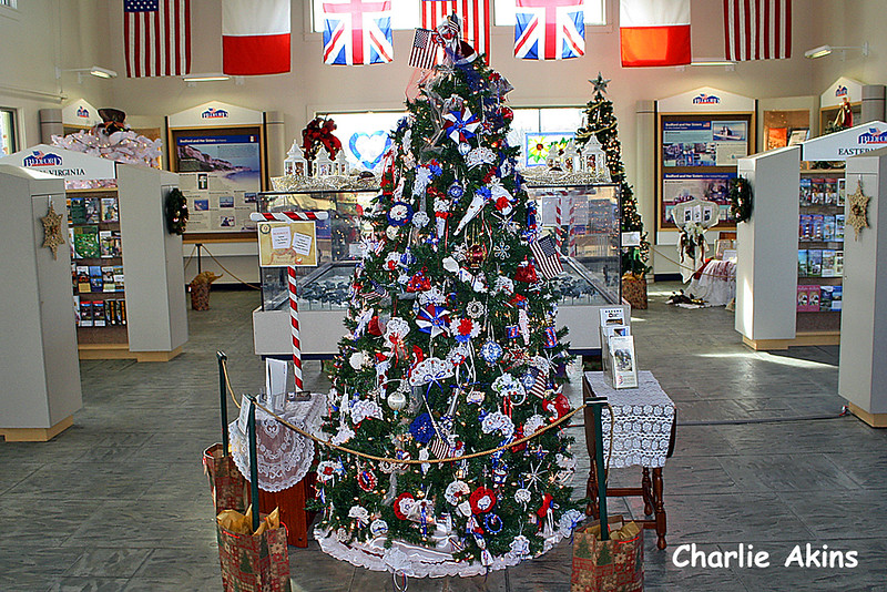 This tree was decorated by the National D-Day Memorial Foundation.