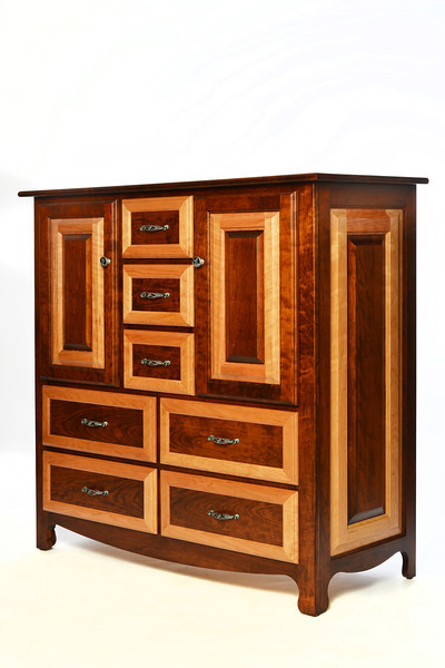 9 drawer dresser  Granger Style in Cherry with Natural and Antique Finish