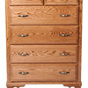 Heritage Dresser in Medium Oak (front view)