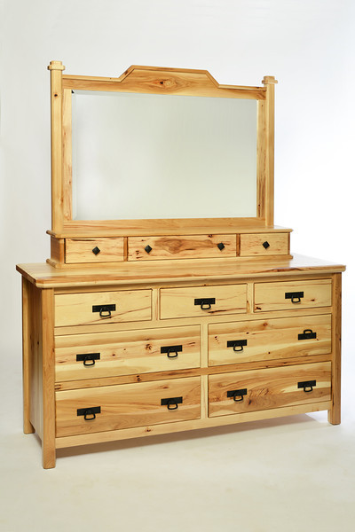 Dresser Houston Style in Hickory with Natural Finish and Mirror