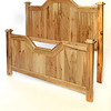 Houston Bed style in Rustic Hickory with Natural finish