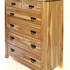6-drawer dresser Rustic style in Hickory with Natural Finish