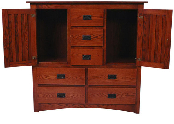 Mission Dresser in Autumn Oak (open)