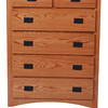 Mission Dresser in Medium Oak (front view)
