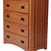 Mission Dresser in Medium Oak (corner view)