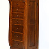 Tall Lingerie Jewelry chest Burr style in Quarter Sawn Oak