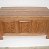 Medium Oak Sleigh Style Chest