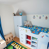 Childrens built in bed and wardrobe with hand painted finish.