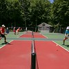 Pickleball exhibition match at Beech Mountain Club