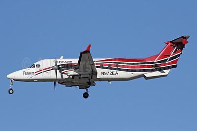 Ravn Alaska (Corvus Airlines) Beechcraft (Raytheon) 1900C N972EA (msn UE-389) ANC (Michael B. Ing). Image: 927819.