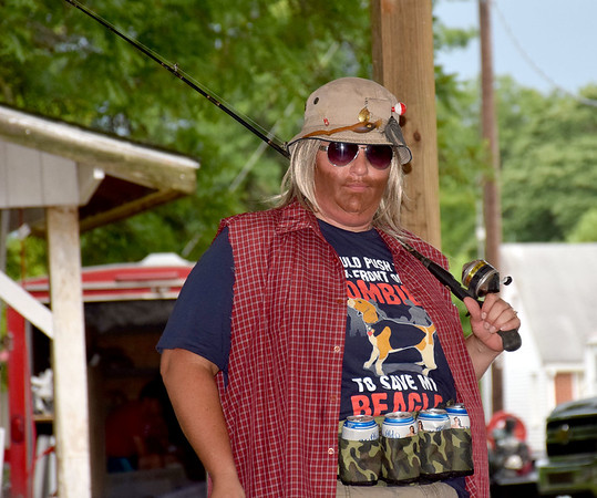 Jackie Stoldt preforms as Catfish Cooter in the Corn Fed King Contest Saturday evening. Kaitlin Cordes photo