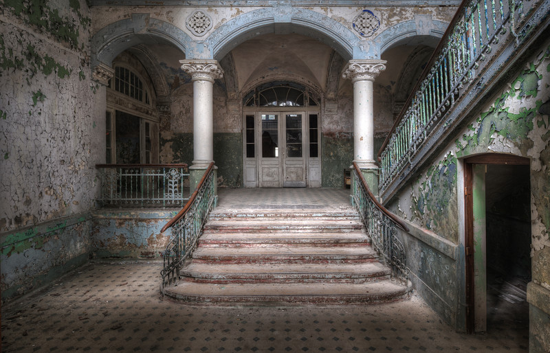 Goodbye - Perhaps the most photographed abandoned sanitarium out there. A final goodbye to this magnificent place. Within 2 weeks they will start reconverting the place.