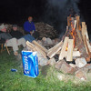 world's most popular beer, or at least the best selling, and here it is around the campfire