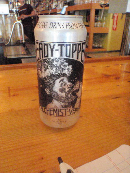 The Alchemist is a famous Vermont brewer, after the flooding from the hurricane he lost a lot of his brewery. Now this is the only beer he's making and it's hard to come by. Glad I did because it sure is good. He has interesting opinions on using cans, just read the can.