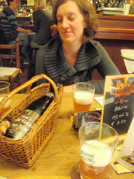 Karin is a big fan of good Gueuze's