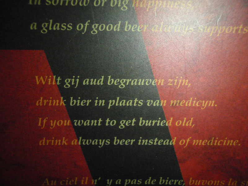 Belgian Bar Tokyo platitudes to live by