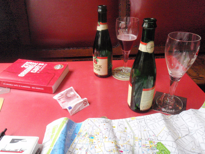 research and a sweet kriek that fortunately wasn't too sweet