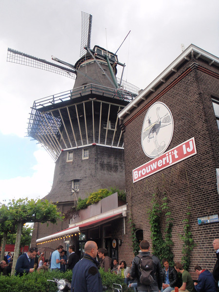 Back in Amsterdam, I was told about this brewery the last time so I made the effort to go check it out. It resides in one of only 6 windmills left in the city. They had some decent beer flowing this day