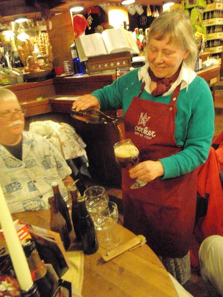 Leen pours the first of 3 sweet little vintages alongside a new Westvleteren