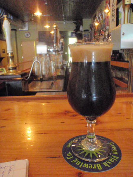 Back at the 3 Penny, I started my day with Founders Breakfast Stout brewed with coffee and oatmeal. The coffee is big, excellent breakfast beer. Now all I need is a stock of it in my cellar